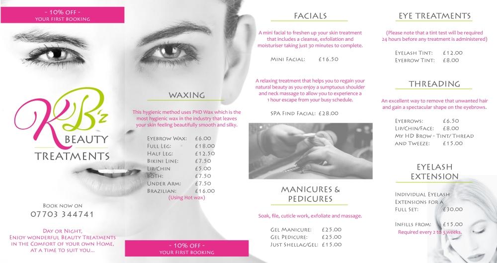 KB Beauty leaflet
